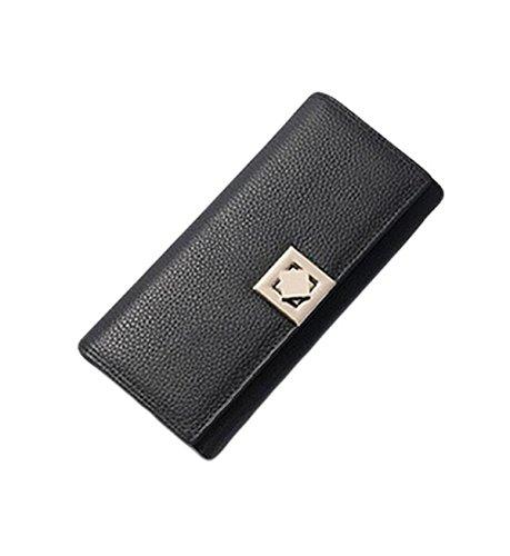Femminile Portafoglio Pack Card Borse Frizione Pacchetto Del Telefono Della Borsa Black