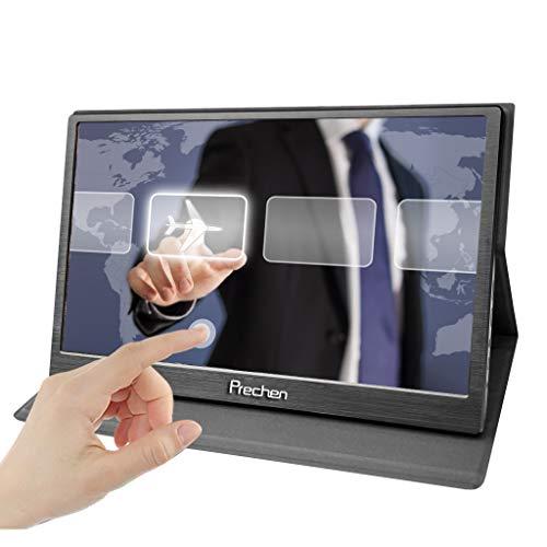 Prechen 15,6 pollici Portatile Touchscreen Monitor 1920x1080P 16:9 10 Points Multi-Touch Gaming Monitor con doppia HDMI interfaccia Compatible With Windows 7 8 10 Raspberry Pi 3B+ PS3 PS4 Xbox