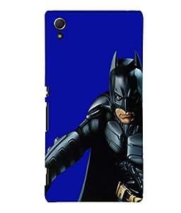 printtech Superhero Black Back Case Cover for Sony Xperia Z4::Sony Xperia Z4 E6553
