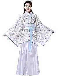 XFentech Mujer Ropa de Estilo Chino Antiguo Traje Tang Impresión Nacional Tradicional Retro Hanfu Disfraz de