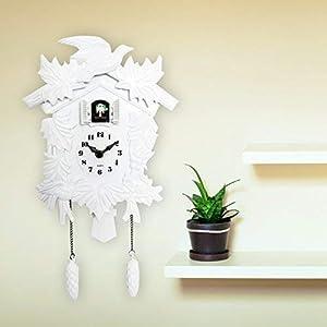 Walplus Elegant Weiß Kuckucksuhr Wandkunst Zuhause Wohnzimmer Küche Dekor Restaurant Café Hotel Büro Dekoration
