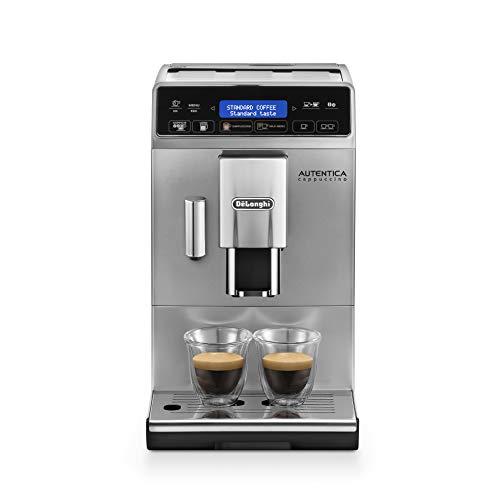De\'Longhi Autentica Cappuccino ETAM 29.660.SB Kaffeevollautomat (1450 Watt, Digitaldisplay, integriertes Milchsystem, Lieblingsgetränke auf Knopfdruck, Herausnehmbare Brühgruppe) silber