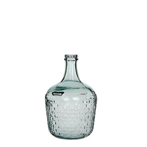MICA Decorations 241794 Diego Weave Botella de Cristal/ – Jarrón, Cristal, Vidrio,