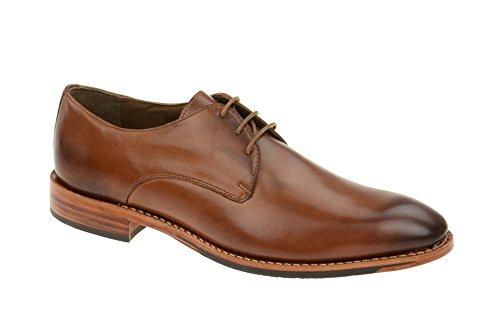 Gordon & Bros Herrenschuhe Mirco S500602 Klassischer rahmengenähter Schnürhalbschuh mit Derbyschnürung für Anzug, Business und Freizeit braun (Cognac), EU 42