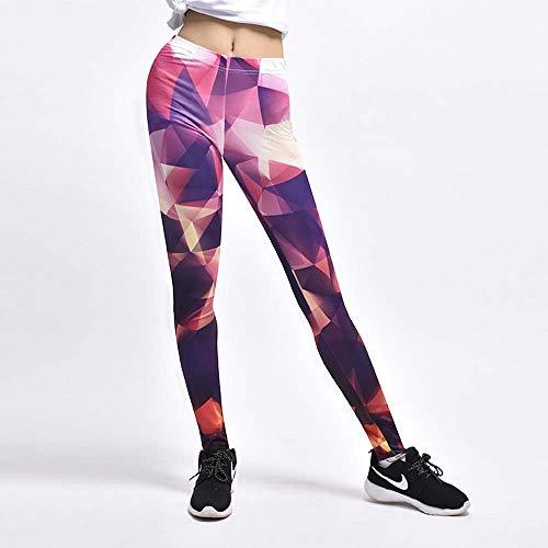 GONGFF Pantalones De Fitness Deportivo Medias De Yoga 3D con Estampado Creativo,A,M