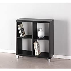 Kit Closet Kubox - Estantería, 4 huecos, color negro