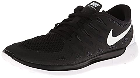 Nike Free 5.0, Damen Laufschuhe, Schwarz (Black/White-Anthracite), 36.5 EU