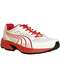 Puma Sturdy White And Red Running Men's Shoes-7 Uk