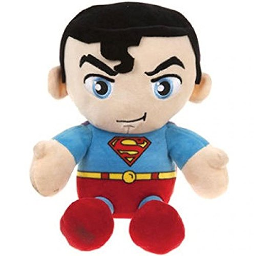 "DC COMICS ORIGINALS SUPERMAN SOFT PLUSH 10"" SITTING BEANIE OFFICIAL GIFT TOY"