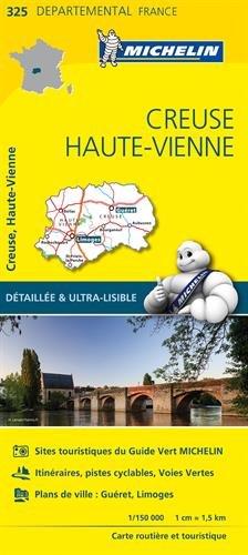 Carte Creuse, Haute-Vienne Michelin