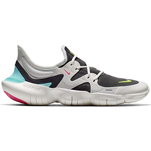 4110V5uVPSL. SS500  - Nike Women's WMNS Free Rn 5.0 Track & Field Shoes, Multicolour (Sail/Volt/Thunder Grey/Aurora Green 000), 6 5.5 UK