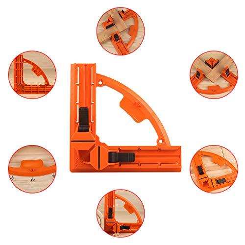 Serre-Joint à Angle Droit,Pince à bois pour cadre d'image en plastique à angle droit de 90 degrés-LCLrute pour le Travail du Bois, l'Ingénierie, le Soudage, le Cha