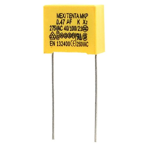 Kondensator - SODIAL(R) AC 275V 0.47uF Polypropylen Folien Sicherheit Kondensatoren 10 Stueck (Kondensator Ac)