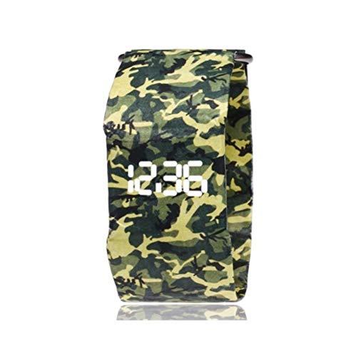 Unbekannt SCH Papieruhr, LED-Männer und Frauen imprägniern kreative Uhrstudenten-Armbandtabelle (Color : K) (Frauen Imprägniern Sport-uhr)