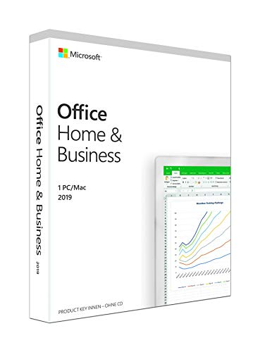 Microsoft Office 2019 Home & Business multilingual | 1 PC (Windows 10) /Mac | Dauerlizenz | Box
