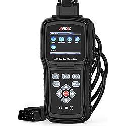ANCEL AD610 Elite OBD II en français Automobile Analyseur Lecteur de Code Moteur Outil de Diagnostic pour Système Moteur/ABS/SAS/SRS(Airbag) Crash Data Reset Scanner