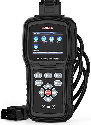 ANCEL AD610 Elite OBD II en français Automobile Analyseur Lecteur de Code Moteur Outil de Diagnostic pour Système Moteur/ABS/SAS/SRS(Airbag) Crash Data Reset...
