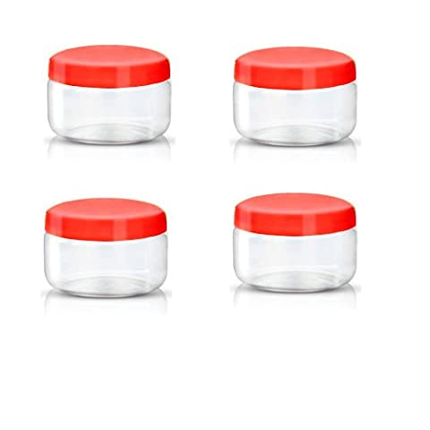 Sunpet Food Storage Canisters, Plastic, Red, 150 ml, Small, Pack