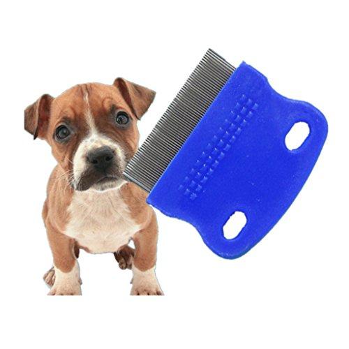 Milopon Flohkamm Staubkamm Läusekamm Nissenkamm für Hunde und Katze Kopf Pelz Läuse Behandlung & Entfernen Floh Zufällige Farbe (Katze Floh-behandlung Beste)