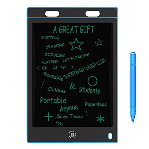 LCD-Schreibtablett, 8,5-Zoll-ultradünne grafische elektronische Zeichnung Doodle Board Pad, mit Bildschirmsperre, für Kinder Erwachsene Home Memo School Office,A -