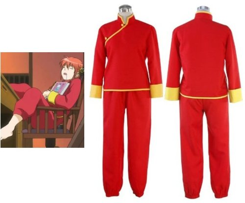 Sunkee Silver Soul Kagura Cosplay Kostüm, Größe M: (Höhe 160cm-165cm, Gewicht 45-50 - Kagura Cosplay Kostüm
