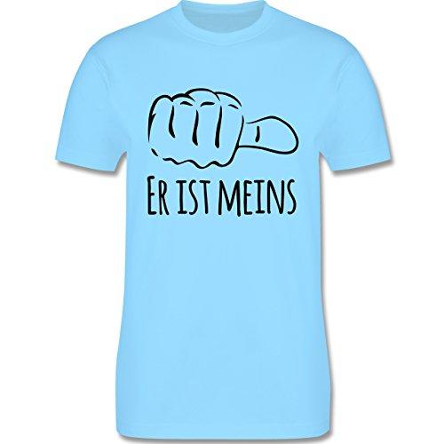 Valentinstag - Er ist meins Kombishirt für SIE und IHN - Herren Premium T-Shirt Hellblau