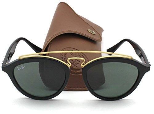 Ray-Ban RB4257 Retro-modern Women Sunglasses (Black Gold Frame/Green Classic Lens 601/71, 53)