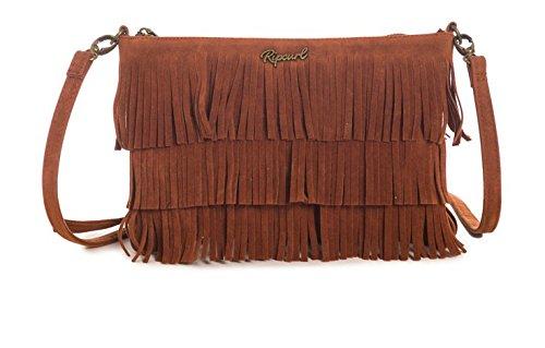 Rip Curl–Borsa a tracolla Nahua Shoulder Bag, Donna, Umhängetasche Nahua Shoulder Bag, marrone chiaro, Taglia unica marrone chiaro