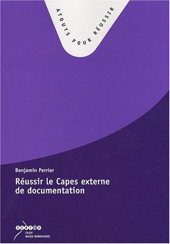 Réussir le Capes externe de documentation