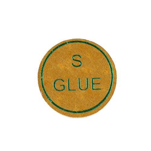 T TOOYFUL Queue Tipps Snooker Queue Tipps Billard Pool Stick Ersatzspitzen Künstliche Schweinslederhärte Optional - Gelb, 13mm weich -