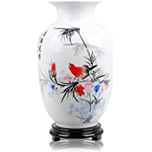 Red Bird Vaso in ceramica - Belle Cristallo Vasi