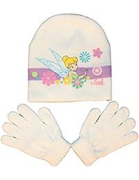 Tinkerbell - Ensemble bonnet, écharpe et gants - Uni - Fille