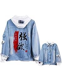 Cosstars Danganronpa Monokuma Anime Chaquetas de Mezclilla Denim Jacket Adulto Cosplay Jeans Hoodie Sudaderas C/árdigan