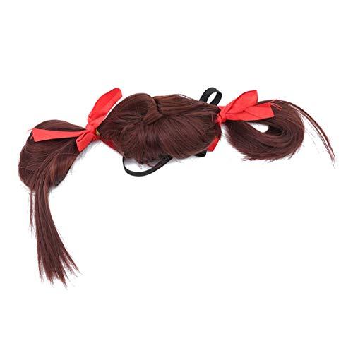 (Botreelife Gerade Lockige Haustiere Perücke Langes Haar Cosplay Halloween Kostüm Pet Haarschmuck, Stil 1)