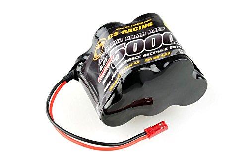 CS-ELECTRONIC C120404 NiMh RX-Mega Hump Pack 6V, 5000mAh Akku für Großmodelle JR/BEC Stecker Schwarz Rx-hump Pack
