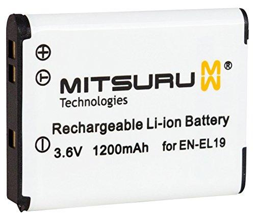 Mitsuru® Batterie de remplacement pour Nikon EN-EL Convient pour Coolpix S100S2500S2550S2600S3100S3300S4100S4150S4300S6400S7000