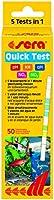 sera 04960 Quick Test 50 St. Teststäbchen für pH, gH, KH, NO2 und NO3 - schnell und einfach kontrollieren zur regelmäßigen Routinekontrolle