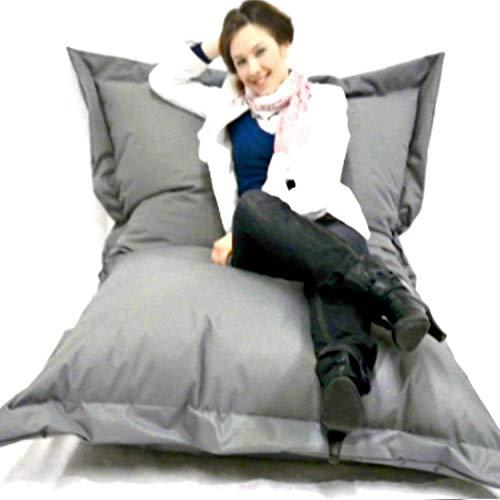 Sitzsack XXL Riesensitzsack 140 x 180 cm mit Füllung In & Outdoor Sitzsäcke Sessel Kissen Sofa...