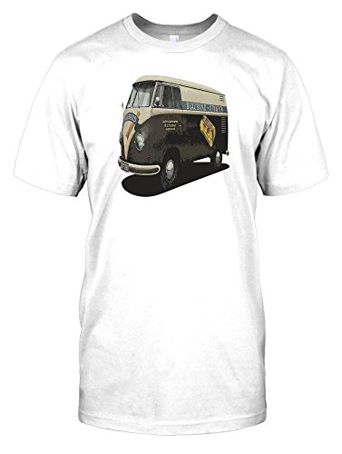 Camper-Van-Volkswagen-Blauband-Tobacco-Mens-T-Shirt-Campervans