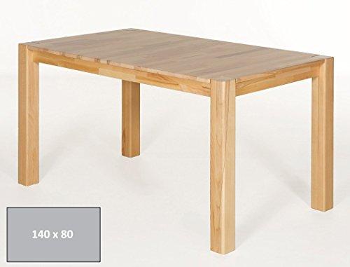 hochwertiger Esstisch Georg 140x80cm Kernbuche lackiert Massivholztisch Holztisch