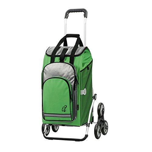 Andersen Shopper Royal Treppensteiger und 60 Liter Einkaufstasche Hydro grün mit Kühlfach -