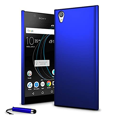 Sony Xperia L1 - Armour Hybrid Hard Clip On Shell Case Cover + Screen Protector + Stylus (Blue)