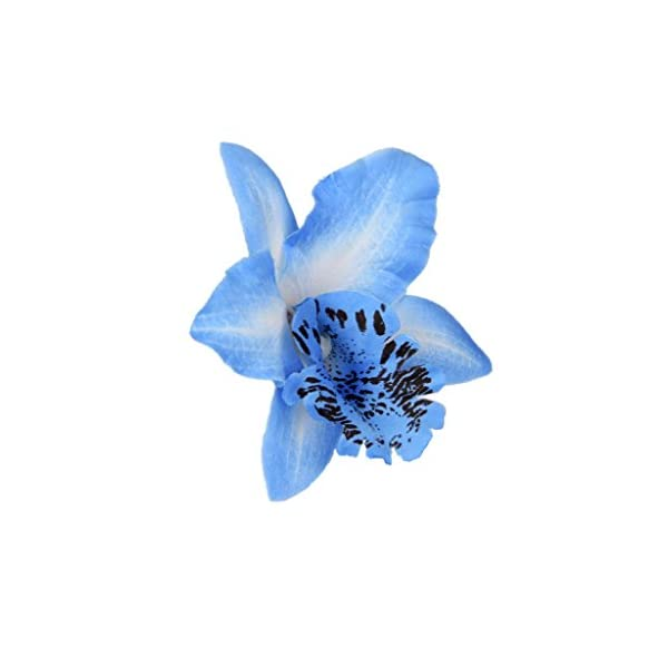 20pcs Flor Artificial Orquídeas Azul Decoración para Hogar Boda 8cm