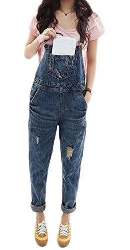Damen fashion Jeans Overall Jumpsuit Fetzenjeans Bodysuit Turnanzug Sommerkleider lange Hosen