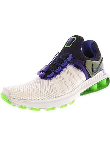 NIKE Women's Shox Gravity Running Shoes-White/Fusion Violet-8 (Shox Womens Shoes)