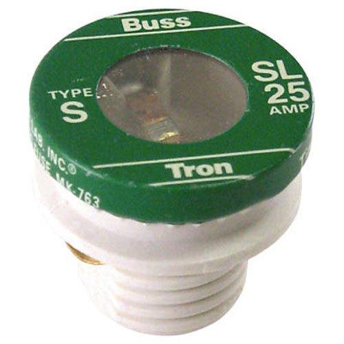 Sl Plug Fuse (Bussmann SL-25PK4 25 Amp Time Delay Loaded Link Rejection Base Plug Fuse, 125V UL Listed, 4-Pack)