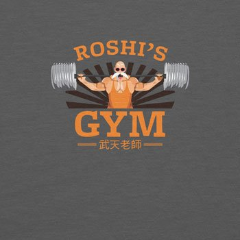 Planet Nerd Lifting Weights in Roshi´s Gym - Herren T-Shirt Grau