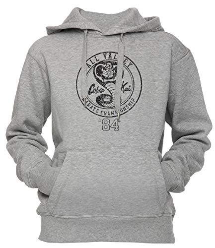 4110lWcmPTL - Sudadera gris con capucha Cobra Kai unisex