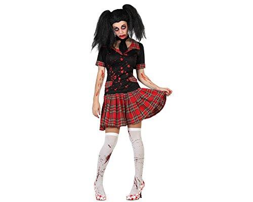 ATOSA 22686 - Blutige Schülerin Kostüm, Größe XS-S, schwarz/rot