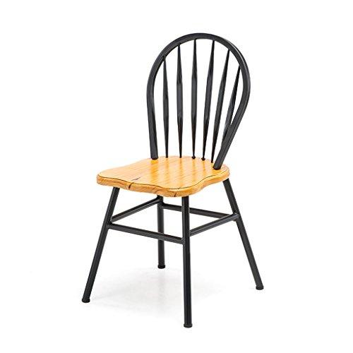 Lron Art Fauteuil Vintage Restaurant en Bois Massif Accueil Chaise Cafe Shop Chaise en Plein Air Salon Chaise Être Applicable Chaise De Bureau 46 * 89 Cm,A